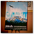 Poster board for MEDIchair franchise conference in Calgary.