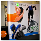 Tradeshow banner for Mech Orthotics.