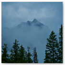 Misty Mountain in Banff